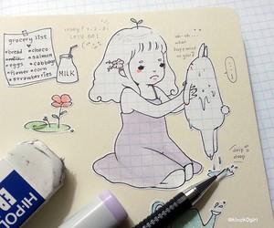 draw, girl, and kawaii image