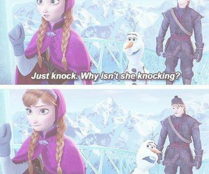 frozen, olaf, and anna image