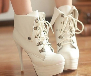 booties, fashion, and high heels image