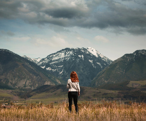 girl, landscape, and photography image