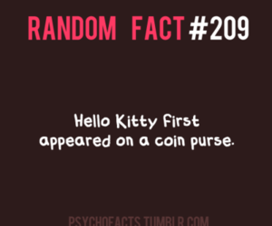 coin, hello kitty, and facts image