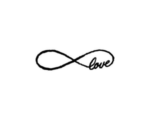 infinity, love, and overlay image