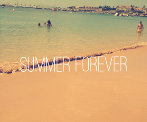 beach, summer, and forever image