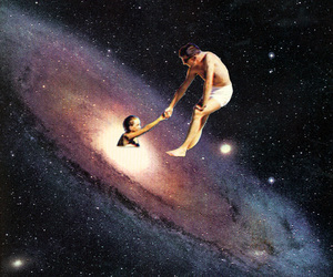 art, galaxy, and black hole image