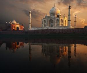 india, taj mahal, and photography image