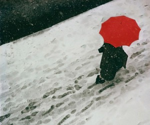 red, snow, and white image