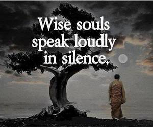 quote, silence, and soul image