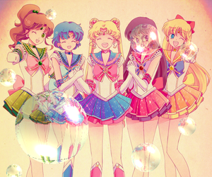 beauty, colourful, and sailor mercury image