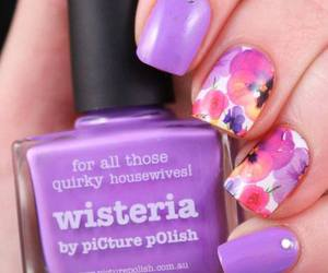 fashion, flowers, and manicure image