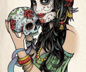 girl and skull image