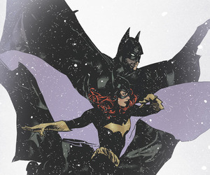 art, batgirl, and batman image