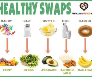 healthy food and healthy swaps image