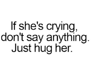hug, quote, and cry image