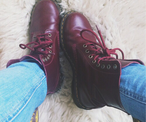 boots, dr martens, and fashion image