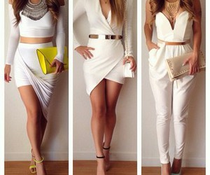 white, outfit, and fashion image