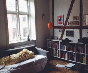 apartment, bed, and comfy image