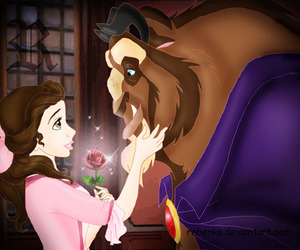 beauty and the beast, disney, and lovely image