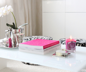 pink, book, and flowers image