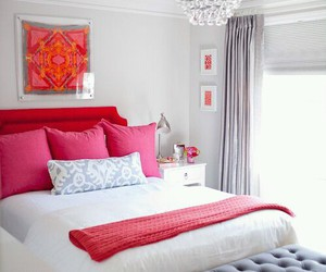 bedroom, pink, and home image