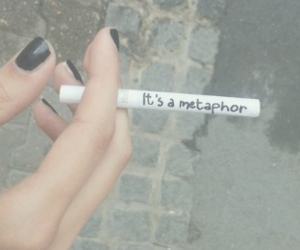 metaphor, smoke, and cigarette image