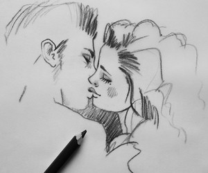 drawing, draw, and love image