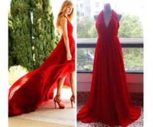 prom dress, red, and Taylor Swift image