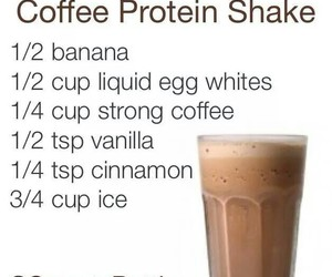 coffee, fitness, and protein image