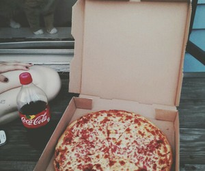 pizza, food, and cat image