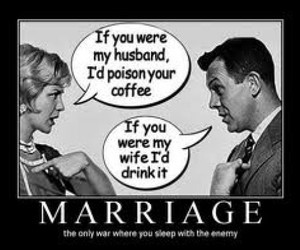 marriage, funny, and husband image