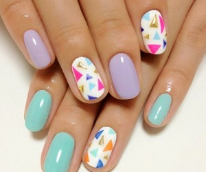 colors, nails, and summer image