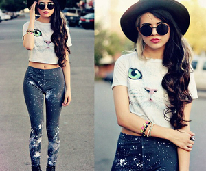 cat, hipster, and outfit image