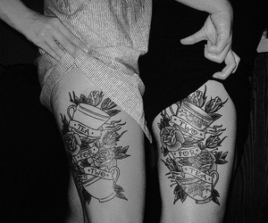 alternative, black and white, and tattoo image