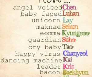 exo, kpop, and love image
