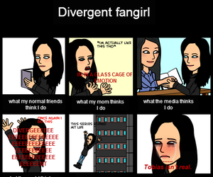 fandoms, fangirl, and divergent image