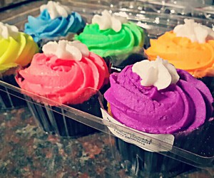 colourful, cupcakes, and eat image