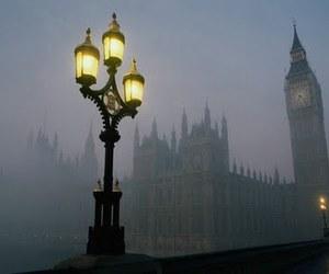 london, fog, and Big Ben image