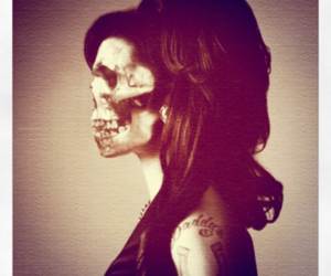 skull, Amy Winehouse, and photography image