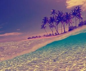 beach, sea, and Sunny image