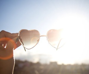 summer, glasses, and heart image