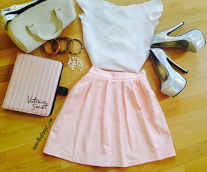 fashion, pink skirt, and pretty image