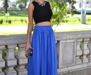 blue, skirt, and style image