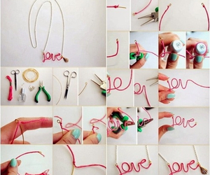 diy, love, and necklace image