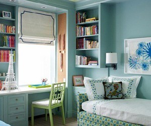 blue, interior, and green image