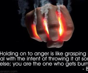 quote, anger, and Buddha image