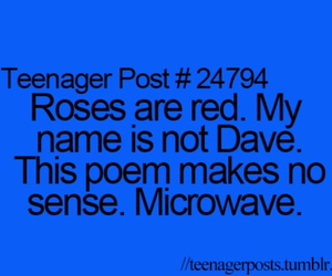 teenager post, funny, and poem image