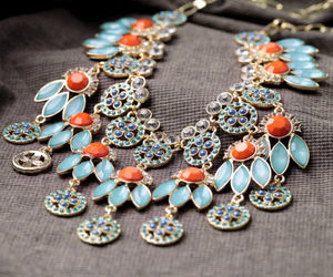 bohemian, necklace, and ethnic style image