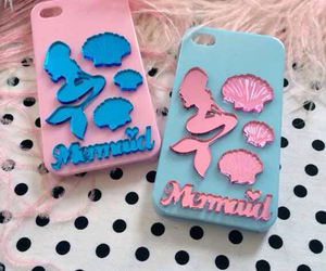 blue, girly things, and mermaids image