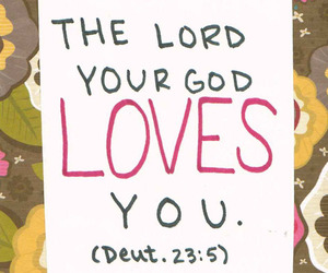 god, scripture, and love image