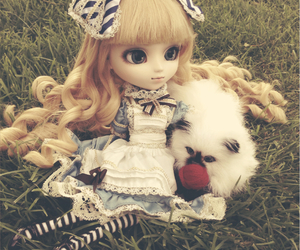 alice, alice in wonderland, and cat image