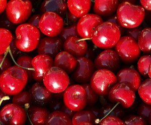 food, cherry, and fruit image